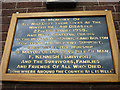 SD6614 : Memorial plaque for the Winter Hill Air Disaster of 1958 by Karl and Ali