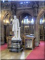 SJ8398 : John Rylands' Statue, Rylands Library by David Dixon