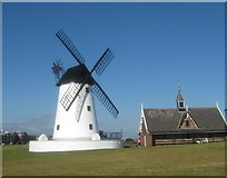 SD3727 : The windmill and old lifeboat house at Lytham by James Denham