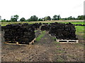 H3975 : Turf in clamps, Kilmore by Kenneth  Allen