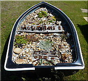 TR0916 : Shingle garden in a boat by Peter Barr