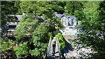 SH7357 : Footbridge in Snowdonia by Jeremy Bolwell
