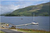 NN0958 : Boat pontoon on Loch Leven by Nigel Brown