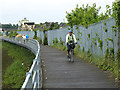 SU4213 : Cyclist and pedestrians on the Itchen Riverside Boardwalk by Oliver Dixon