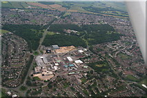 SP8788 : Hazel Wood, Corby: aerial 2014 by Chris