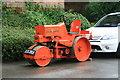 SK5806 : Abbey Pumping station - orange roller by Chris Allen