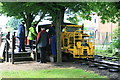 SK5806 : Abbey Pumping Station - railway by Chris Allen