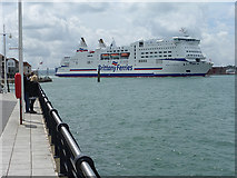 SZ6299 : Brittany Ferry entering Portsmouth Harbour by Oliver Dixon