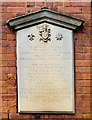 SJ9398 : 9th Battalion of the Manchester Regiment recognition tablet by Gerald England
