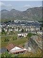 SH7045 : Sunny summer morning view across Blaenau Ffestiniog by Andrew Hill