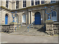 SW4730 : Front steps to St John's Hall, Penzance by David Hawgood