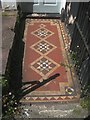 SX9373 : Tiled front path and steps, no.16 Chelsea Place, Teignmouth by Robin Stott
