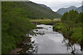 NM9762 : The River Gour above the old Sallachan bridge by Nigel Brown