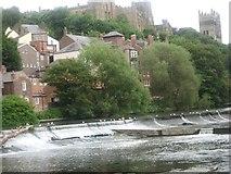 NZ2742 : Weir on the River Wear at Durham by James Denham