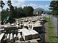 SX7290 : Masonry yard for restoration of Castle Drogo by David Hawgood