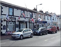 SX9265 : Flags on the Dog & Duck, Babbacombe by Jaggery