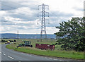 NZ4824 : Power lines near Cowpen Bewley by Pauline E