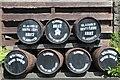 NX4254 : Whisky Barrels, Bladnoch Distillery by Leslie Barrie