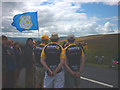 SD8695 : Flying the flag for Yorkshire at the Tour de France, 2014 by Karl and Ali