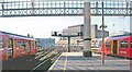TQ3179 : Waterloo Station, outward on Platforms 3/4 by Ben Brooksbank