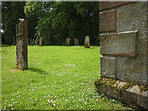 NY5619 : Cut benchmark on St Mary's Church, Little Strickland by Karl and Ali