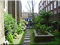 TQ2883 : Part of the garden of St Michael's Church, Camden Town by Marathon