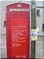 SK1575 : Back of Red Telephone Box, Tideswell by David Hillas