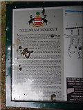 TM0954 : Needham Market history sign by Hamish Griffin