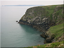 SM7308 : High Cliff, Skomer by Hugh Venables