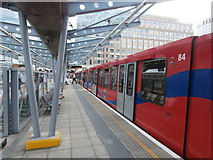 TQ3780 : West India Quay DLR station by John Lord