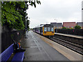 NZ4249 : A Newcastle bound train departing from Seaham railway station by John Lucas