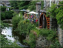 NY3704 : The Water Wheel at the Old Mill by Steve Houldsworth