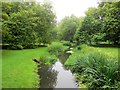 TL5238 : River Cam in Audley End Gardens by Paul Gillett