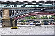 TQ3280 : London : Southwark - River Thames by Lewis Clarke
