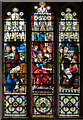 TR0142 : Stained glass window, St Mary's church, Ashford by Julian P Guffogg