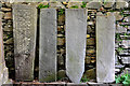 NM7701 : Grave slabs, The Old Chapel, Craignish by Stuart Wilding