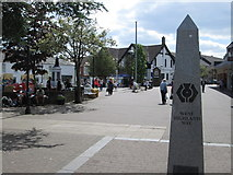 NS5574 : Granite obelisk marking the start of the West Highland Way at Milngavie by Peter S
