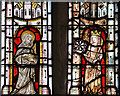 TF0592 : Detail, stained glass window,St Peter's church, Kingerby by J.Hannan-Briggs