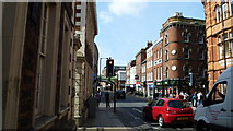 SO8455 : Part of Foregate Street in Worcester in summer by Jeremy Bolwell