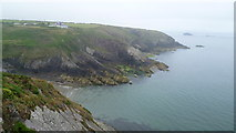 SM7624 : Coastline between St. Davids and Solva in summer by Jeremy Bolwell