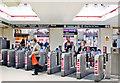 TQ2470 : Wimbledon Station, entrance barriers 2010 by Ben Brooksbank