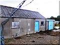 NO5498 : A storage building, Aboyne sewage farm by Stanley Howe