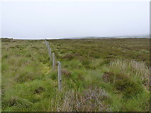 SH8140 : Boundary fence running up into the hills by Richard Law