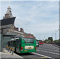 ST3188 : Buses in Market Square bus station, Newport by Jaggery
