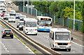 J3775 : Mercedes buses, Sydenham bypass, Belfast (July 2014) by Albert Bridge