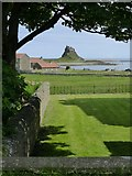 NU1241 : Lindisfarne Castle from the Priory grounds by kim traynor