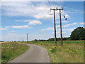 TF6304 : Electricity poles beside New Road by Evelyn Simak
