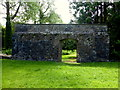 H1859 : Wall with curved archway, Old Castle Archdale by Kenneth  Allen