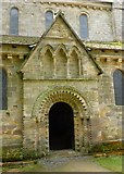 NZ1198 : North Entrance of Church at Brinkburn Priory by Russel Wills