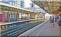 TQ0058 : Woking Station: westward on Platform 1 by Ben Brooksbank